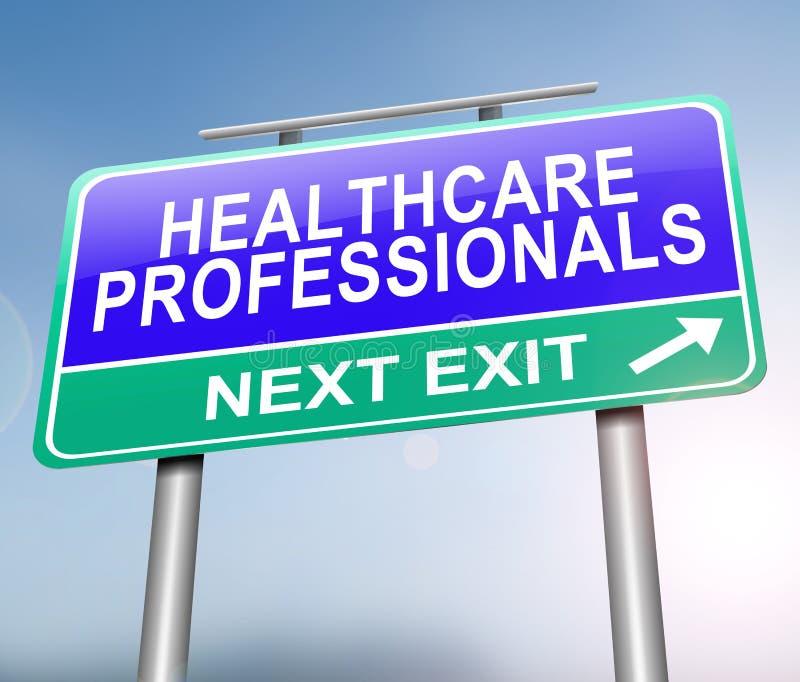 Conceito dos profissionais dos cuidados médicos ilustração stock