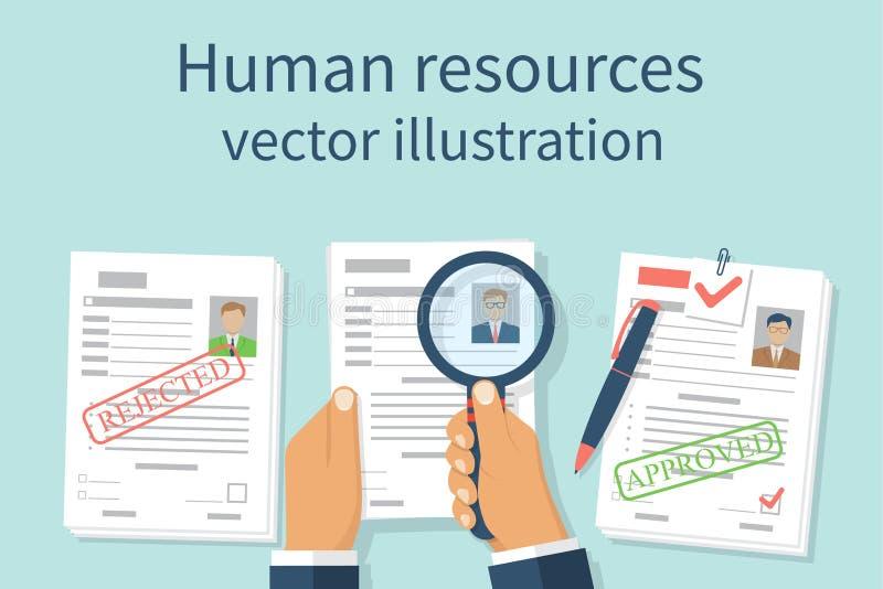Conceito dos recursos humanos ilustração royalty free