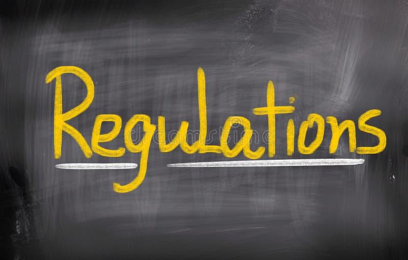 Conceito dos regulamentos imagens de stock royalty free