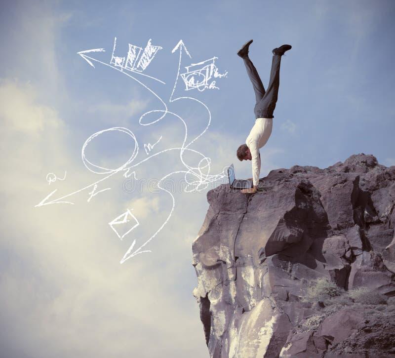 Riscos e desafios da vida empresarial fotografia de stock royalty free