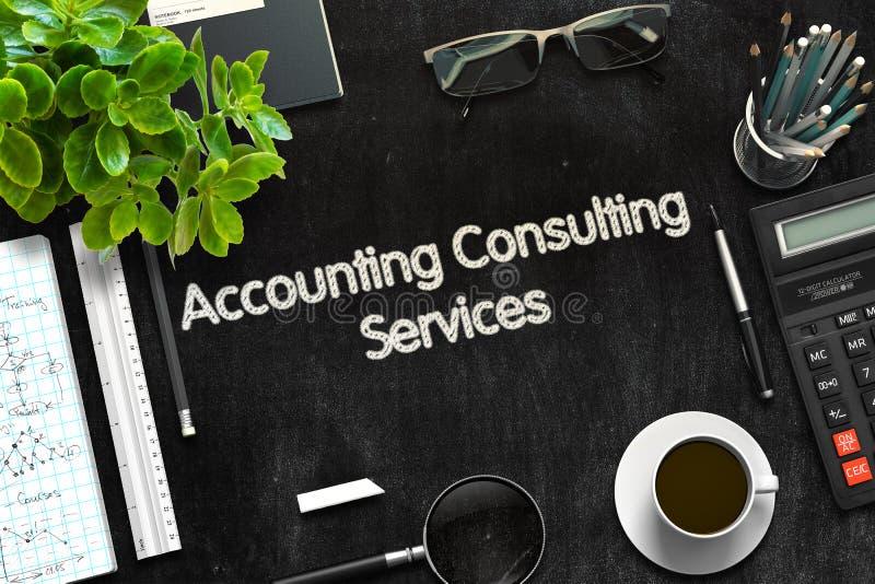 Conceito dos serviços de consultadoria da contabilidade 3d rendem imagem de stock