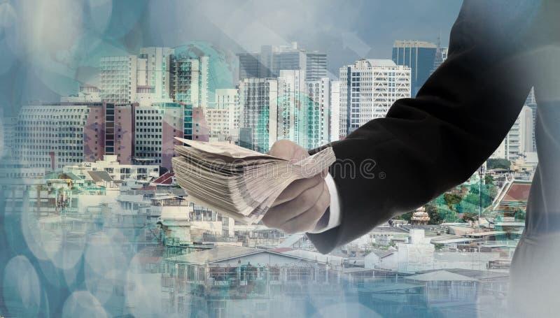 Conceito dos serviços financeiros fotografia de stock