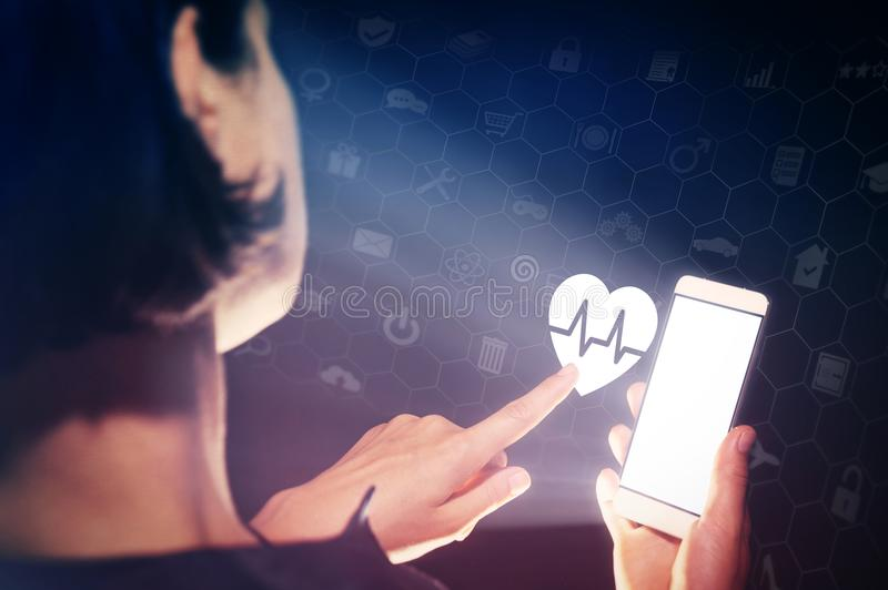 Conceito dos serviços médicos, do diagnóstico e do tratamento imagem de stock
