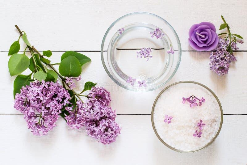 Conceito dos TERMAS da flor fotografia de stock