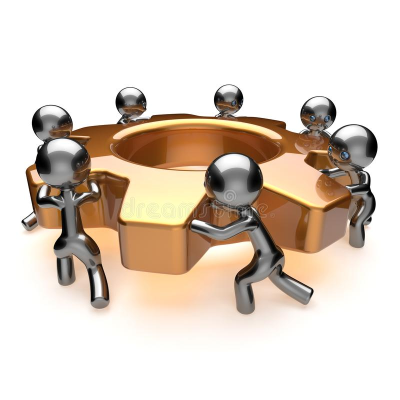 Conceito dos trabalhos de equipa da eficiência do processo de negócios da cooperação do trabalho da equipe ilustração stock