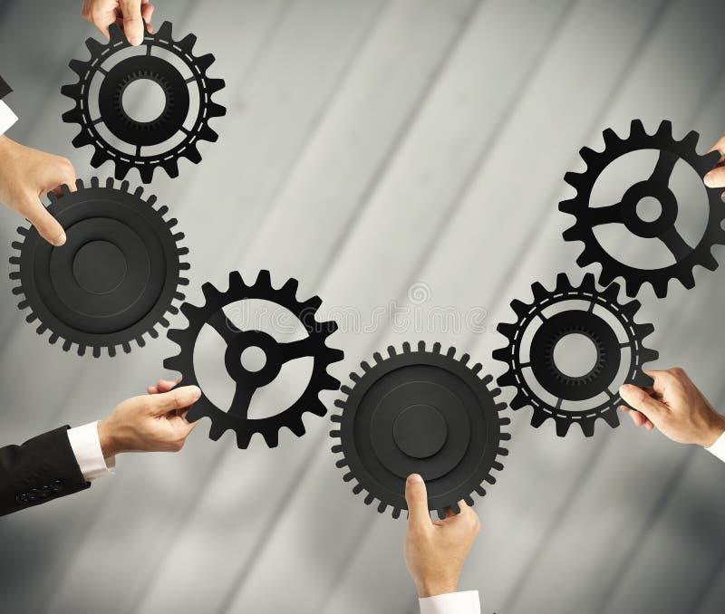 Conceito dos trabalhos de equipa e da integração imagem de stock royalty free