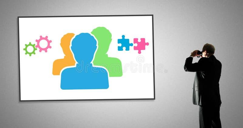Conceito dos trabalhos de equipa em um whiteboard fotos de stock royalty free