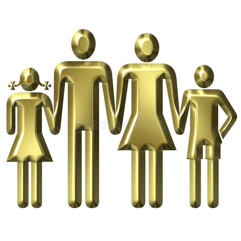 Conceito dos valores familiares ilustração royalty free