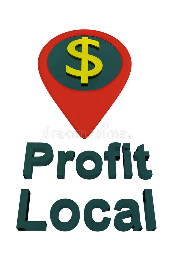 Conceito DOURADO local do lucro imagem de stock royalty free