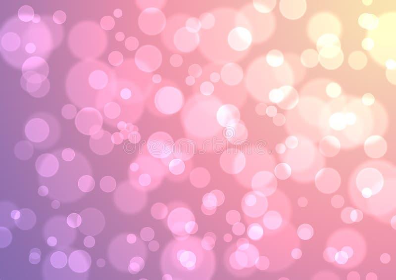 Conceito dourado roxo cor-de-rosa do Xmas Art Wallpaper Background do Natal ilustração royalty free