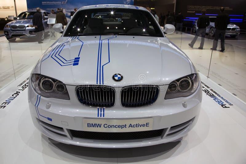 Conceito E ativo de BMW fotografia de stock