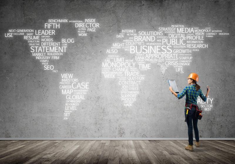 Conceito e globalização da construção foto de stock royalty free