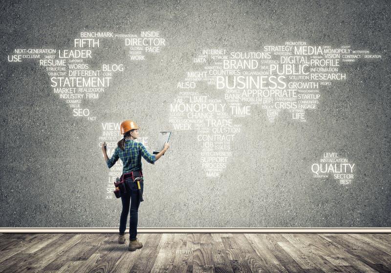 Conceito e globalização da construção fotografia de stock royalty free