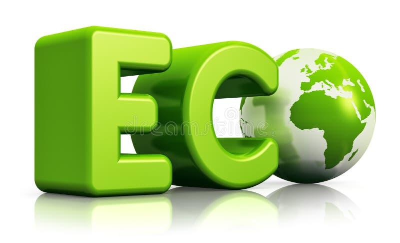 Conceito ecológico ilustração royalty free