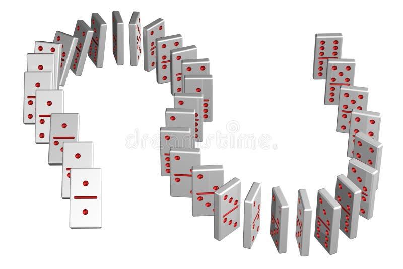 Conceito: efeito de dominó ilustração do vetor