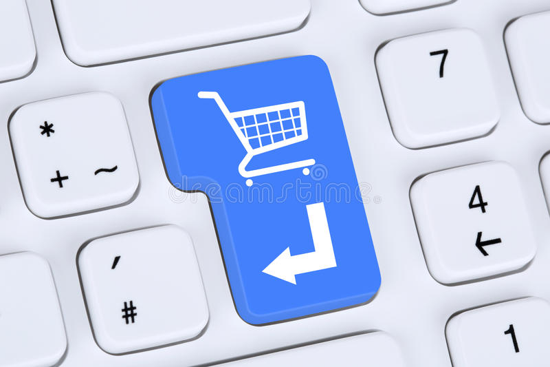 Conceito em linha da loja do Internet do comércio eletrônico da ordem da compra imagens de stock royalty free