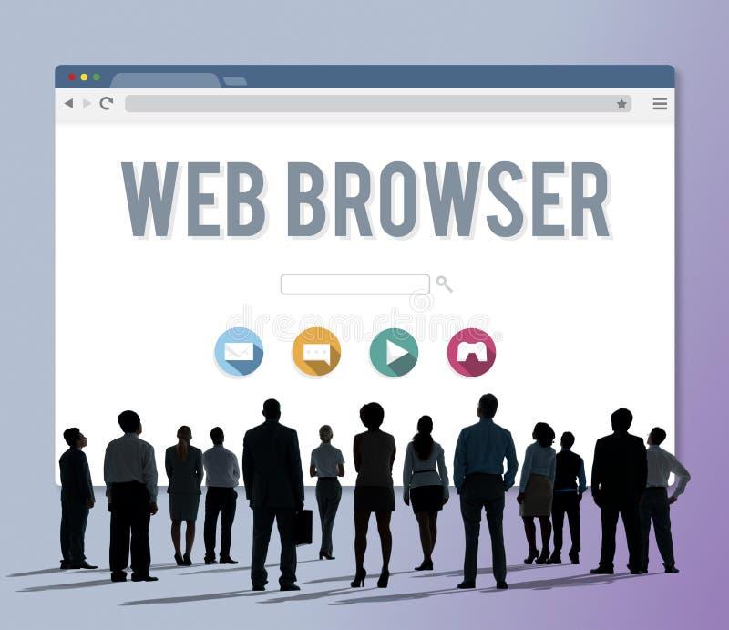 Conceito em linha da página do web browser genérico ilustração royalty free