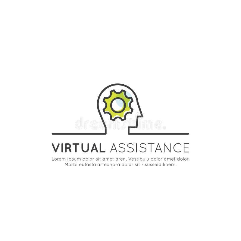 Conceito em linha da plataforma da consulta com caixa de diálogo e perfil humano na tela do portátil, elemento isolado da Web, bu ilustração royalty free