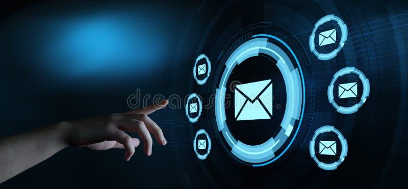 Conceito em linha da rede da tecnologia do Internet do neg?cio do bate-papo de uma comunica??o do correio do email da mensagem imagens de stock