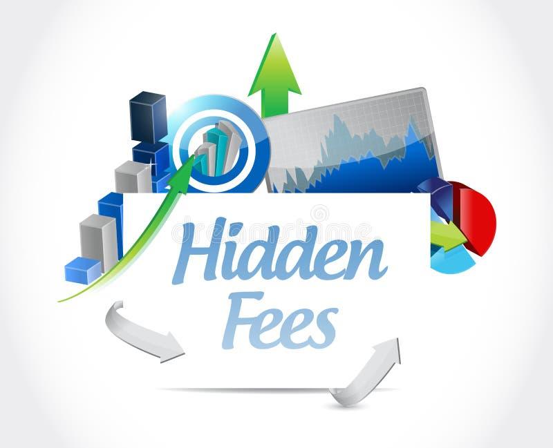 conceito escondido do sinal das cartas de negócio das taxas ilustração royalty free