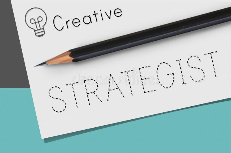 Conceito estratégico da visão das táticas da estratega das estratégias fotografia de stock