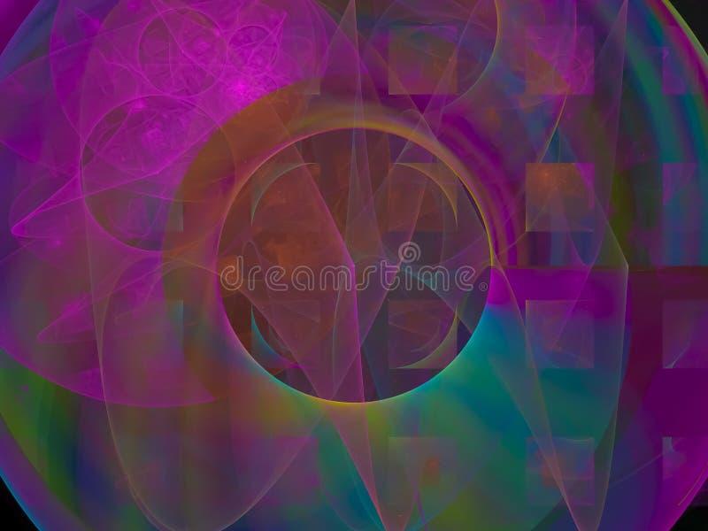 Conceito exuberante artístico da imagem do caos do efeito da ilusão do fundo do Fractal ilustração do vetor