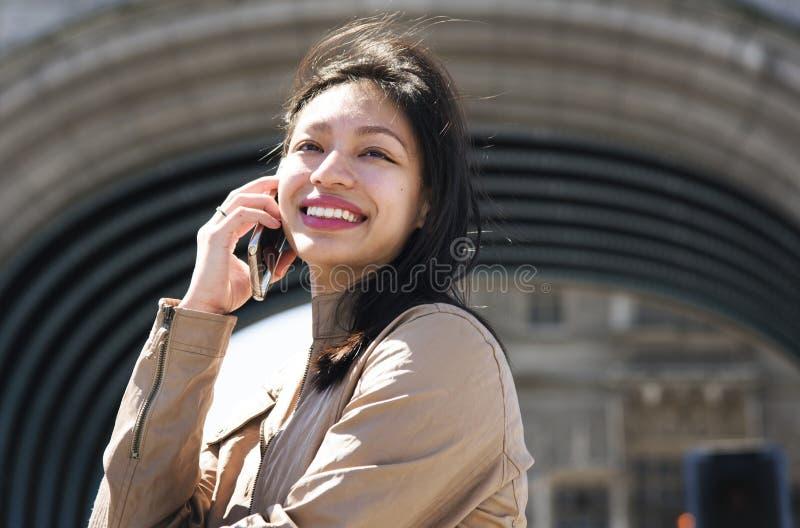 Conceito fêmea bonito do moderno da mulher da menina fotografia de stock royalty free