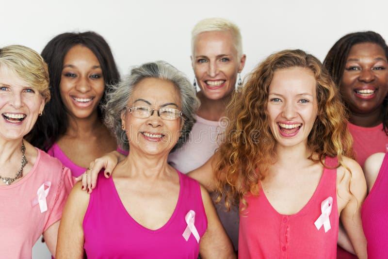 Conceito fêmea das mulheres do tumor das pilhas de câncer da mama foto de stock royalty free