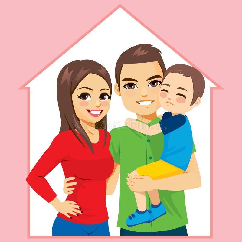 Conceito feliz da casa familiar ilustração stock