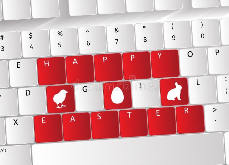Conceito feliz do teclado de Easter ilustração stock