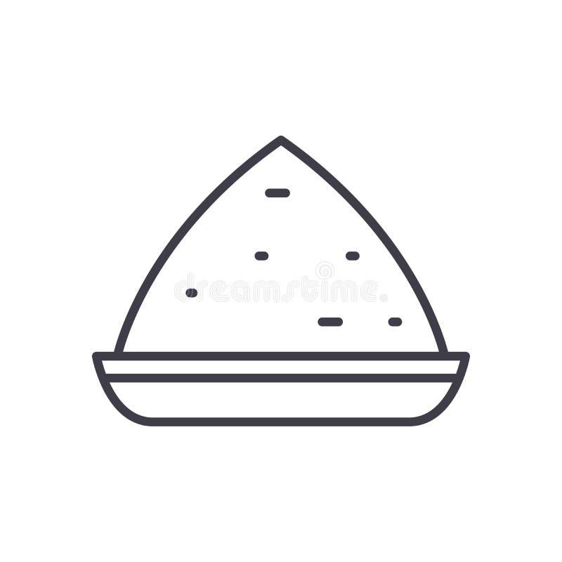 Conceito festivo do ícone do preto do jantar Símbolo liso do vetor do jantar festivo, sinal, ilustração ilustração do vetor