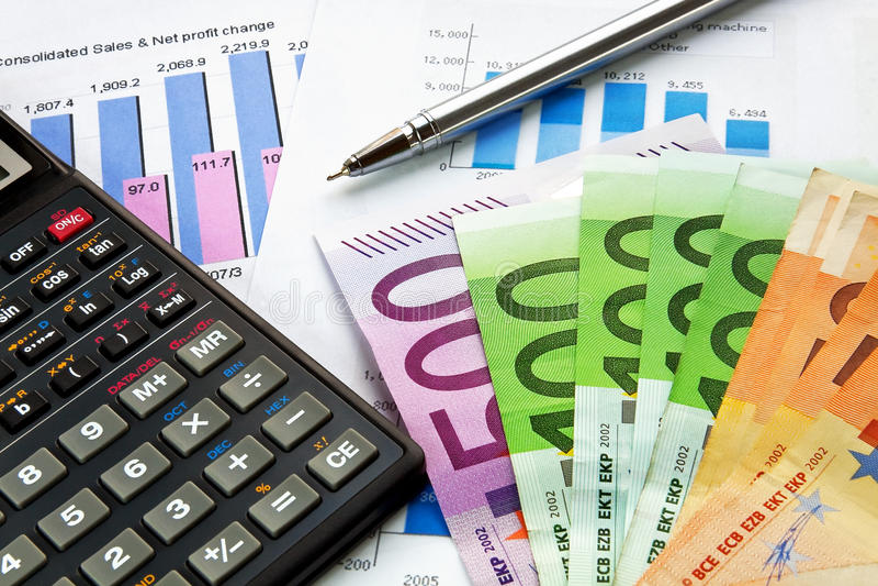 Conceito financeiro fotografia de stock
