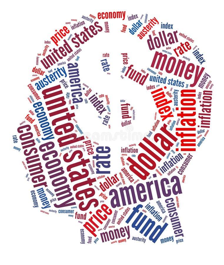 Conceito financeiro americano ilustração stock