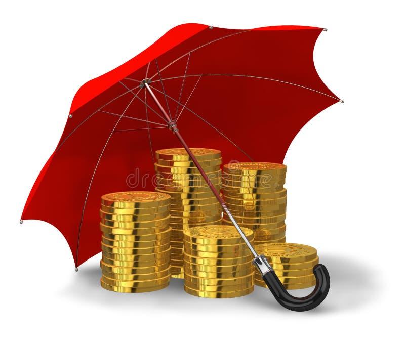 Conceito financeiro da estabilidade e do sucesso ilustração royalty free