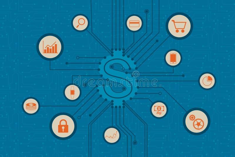 Conceito financeiro da tecnologia e do investimento empresarial fotos de stock
