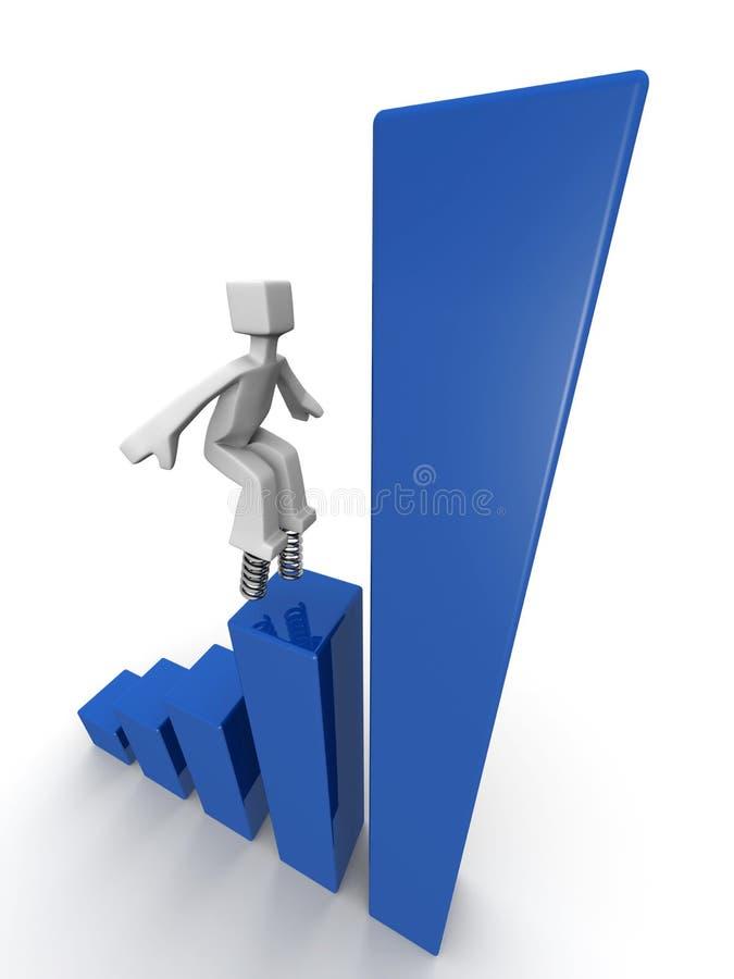 Conceito financeiro do crescimento e do desempenho ilustração royalty free