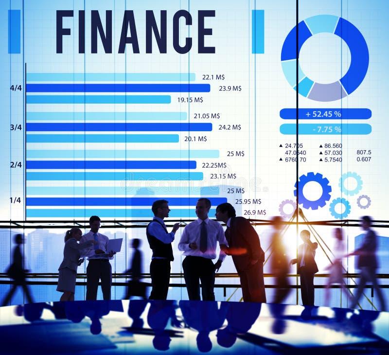 Conceito financeiro do dinheiro do investimento da economia da finança imagem de stock