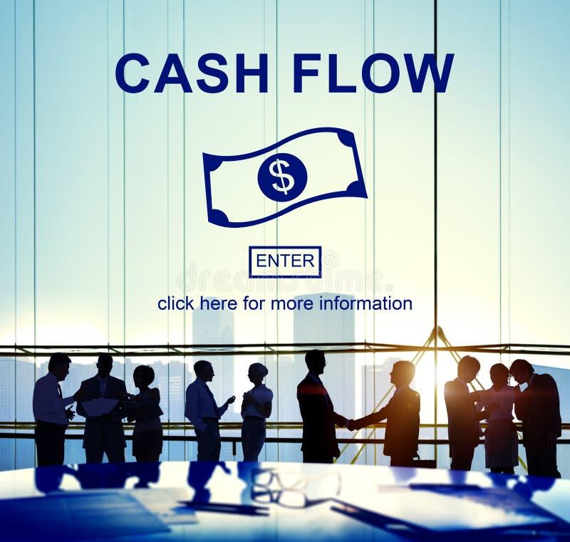 Conceito financeiro do dinheiro do negócio do fluxo de caixa fotografia de stock royalty free