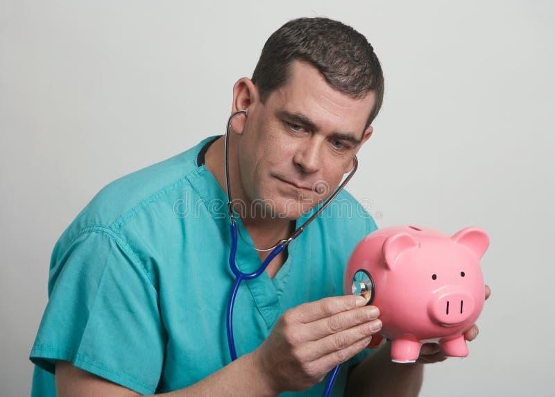 Conceito financeiro do doutor fotos de stock