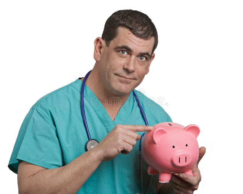 Conceito financeiro dos cuidados médicos imagens de stock