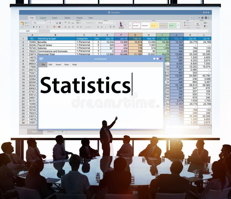 Conceito financeiro econômico da pesquisa da análise do Stats das estatísticas imagem de stock