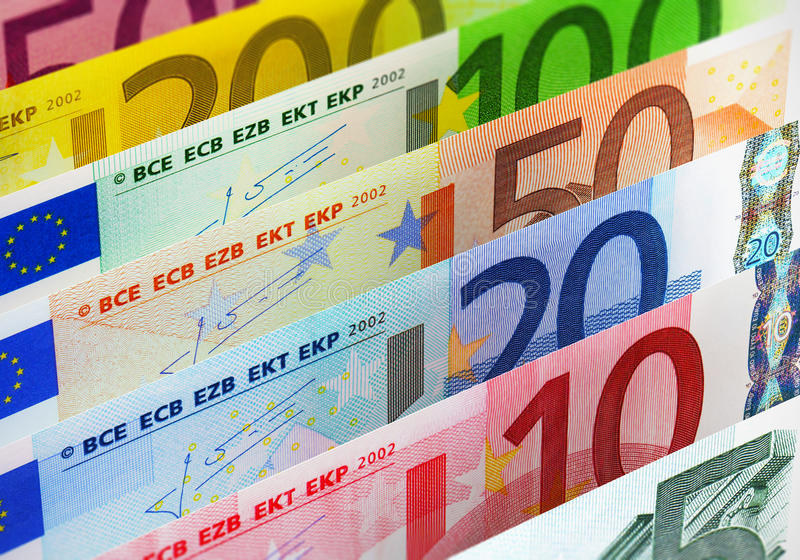 Euro- cédulas ilustração do vetor