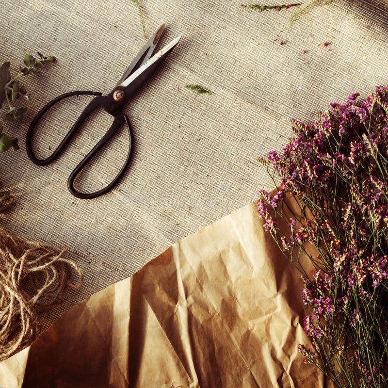Conceito floral da flor do ramalhete de Flower Adorable Style do florista imagens de stock royalty free