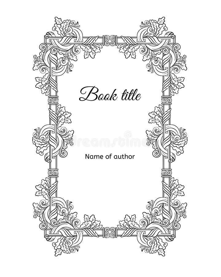 Conceito floral tirado mão da capa do livro ilustração stock