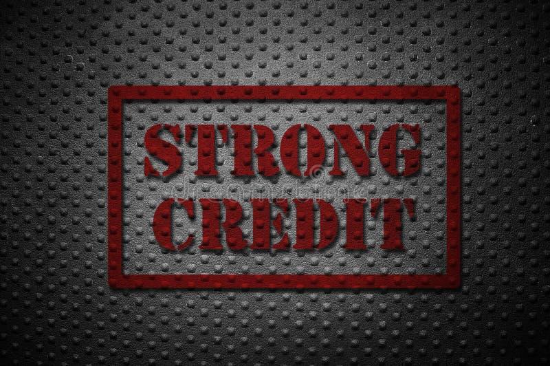Conceito forte do crédito ilustração stock