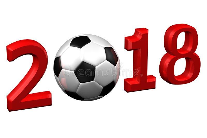Conceito: Futebol 2018 rendição 3d ilustração stock