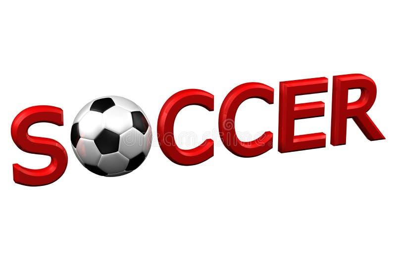 Conceito: Futebol rendição 3d ilustração royalty free