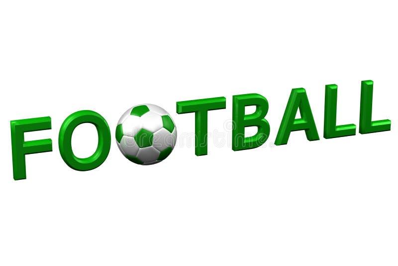 Conceito: Futebol rendição 3d ilustração stock
