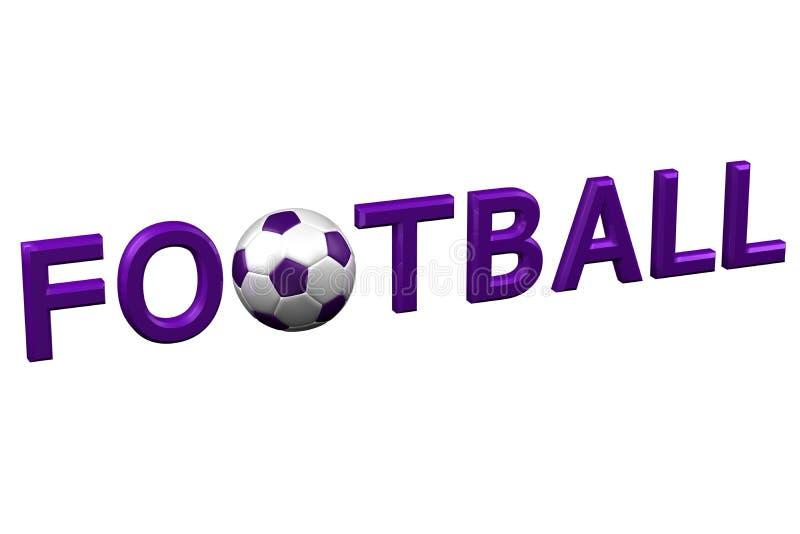 Conceito: Futebol rendição 3d ilustração do vetor