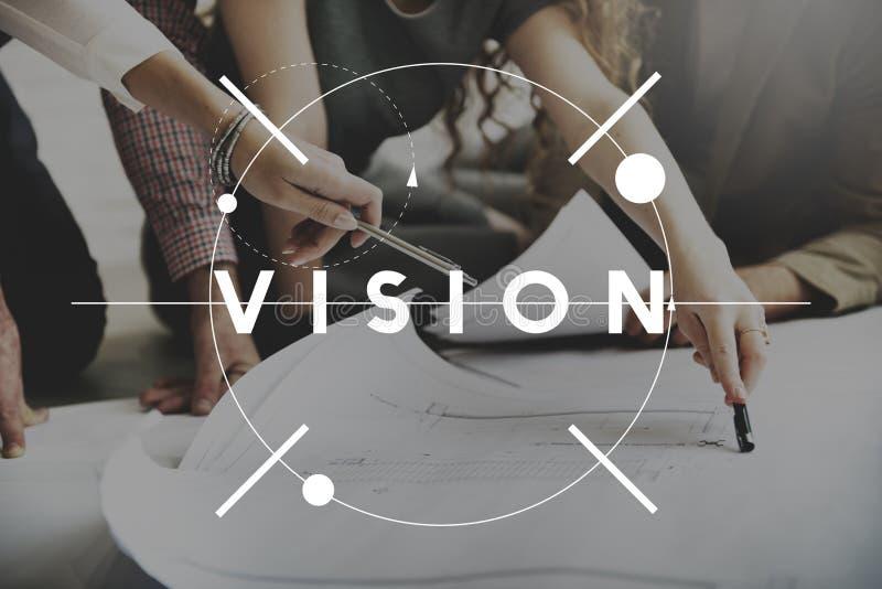 Conceito futuro da motivação da inspiração do sentido da visão foto de stock